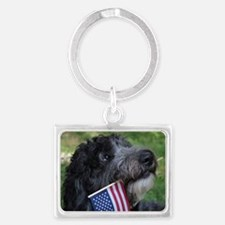 American Doodle Landscape Keychain