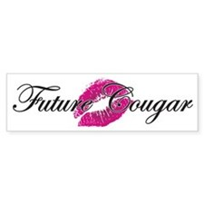 Future Cougar with Kiss Bumper Sticker