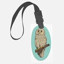 Barred Owl Luggage Tag