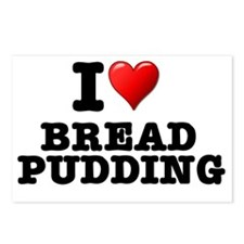I LOVE - BREAD PUDDING Postcards (Package of 8)