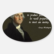 George Washington Military Quote Decal
