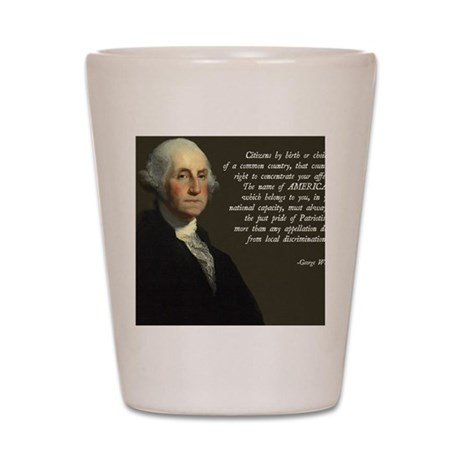 George Washington Assimilation Shot Glass
