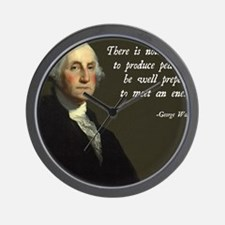 George Washington Military Quote Wall Clock