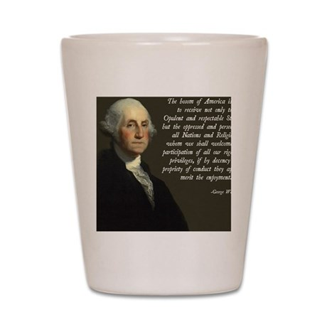 George Washington Immigration Quote Shot Glass