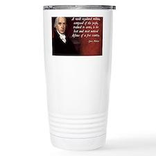 James Madison Militia Quote Travel Mug