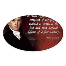 James Madison Militia Quote Decal
