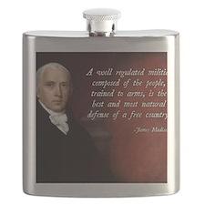 James Madison Militia Quote Flask