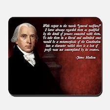 James Madison Quote Mousepad
