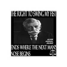 "Oliver Wendell Holmes Square Sticker 3"" x 3"""