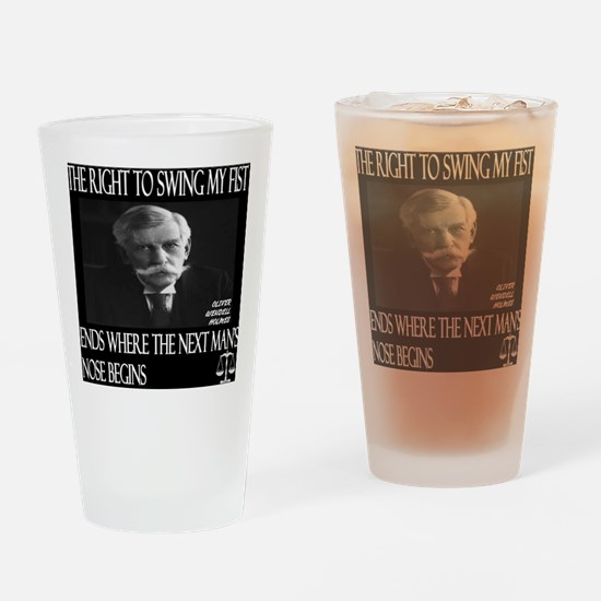 Oliver Wendell Holmes Drinking Glass