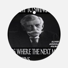 Oliver Wendell Holmes Round Ornament