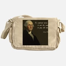 George Washington Debt Quote Messenger Bag