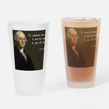 George Washington Debt Quote Drinking Glass