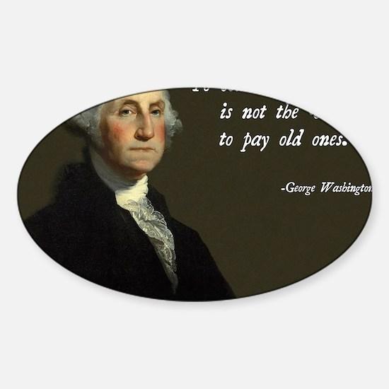 George Washington Debt Quote Sticker (Oval)