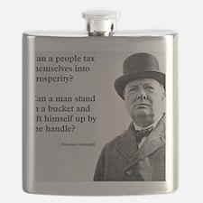 Winston Churchill Tax Quote Flask