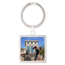 Town Center Animal Hospital Square Keychain