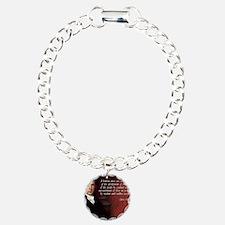 James Madison Quote Charm Bracelet, One Charm