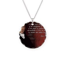James Madison Quote Necklace Circle Charm