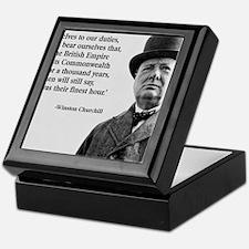 Winston Churchill British Empire Quot Keepsake Box