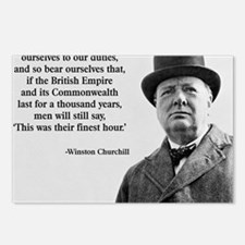 Winston Churchill British Postcards (Package of 8)