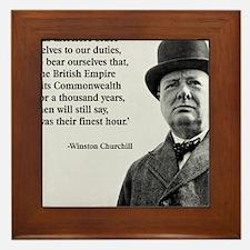Winston Churchill British Empire Quote Framed Tile