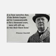 Winston Churchill British Empire  Rectangle Magnet