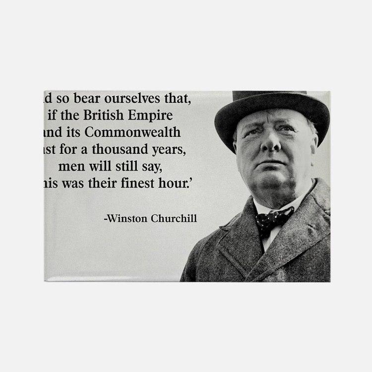 Winston Churchill British Empire  Rectangle Magnet