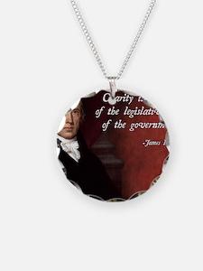 James Madison Libertarian Qu Necklace