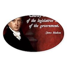 James Madison Libertarian Quote Decal