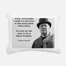 Winston Churchill Alcoho Rectangular Canvas Pillow