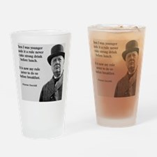 Winston Churchill Alcohol Quote Drinking Glass