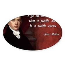 James Madison Debt Quote Decal