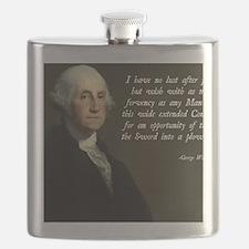 George Washington Sword Plow Flask