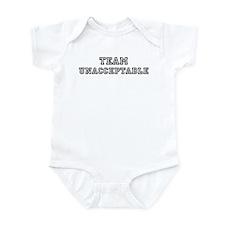 Team UNACCEPTABLE Infant Bodysuit