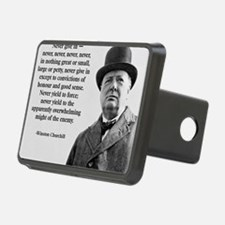 Never Give In Churchill Qu Hitch Cover