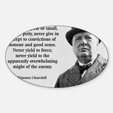 Never Give In Churchill Quote Decal