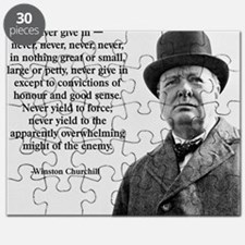 Never Give In Churchill Quote Puzzle