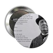 """Winston Churchill Victory Quote 2.25"""" Button"""