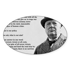 Winston Churchill Victory Quote Decal