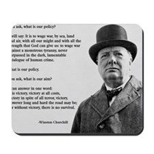 Winston Churchill Victory Quote Mousepad