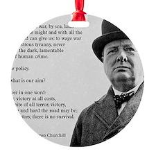 Winston Churchill Victory Quote Ornament