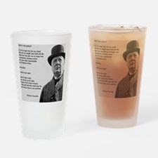 Winston Churchill Victory Quote Drinking Glass