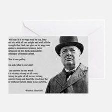Winston Churchill Victory Quote Greeting Card