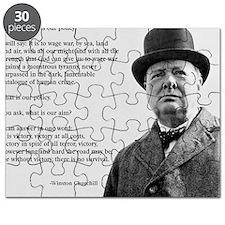 Winston Churchill Victory Quote Puzzle