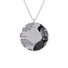 Winston Churchill Victory Qu Necklace Circle Charm