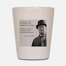 Winston Churchill Capitalism Quote Shot Glass