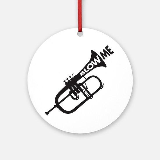 Trumpet Blow Me Round Ornament