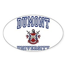 DUMONT University Oval Decal