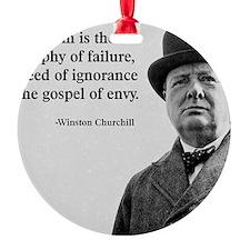 Churchill Anti-Socialism Quote Ornament