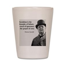 Churchill Anti-Socialism Quote Shot Glass